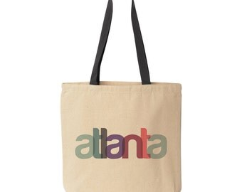 Atlanta Tote Bag, Atlanta Bachelorette Favor, Atlanta Wedding Welcome Bag, Destination Wedding Tote, Atlanta Gift Bag, Atlanta Bridesmaid
