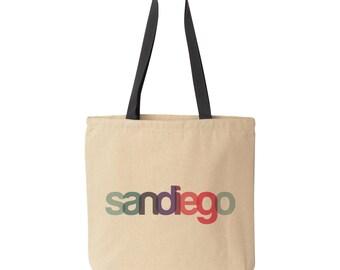 San Diego Tote Bag, San Diego Bachelorette, San Diego Wedding Welcome Bag, Destination Wedding Tote Bag San Diego Gift Bag San Diego Welcome