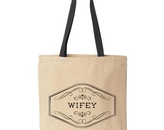 Wifey Tote Bag | Bride Tote Bag | Future Mrs. Tote Bag | Wife Tote Bag