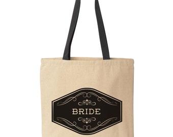 Personalized Bride Tote Bag | Bridal Shower Gift | Wedding Tote Bag | Bachelorette Tote Bag