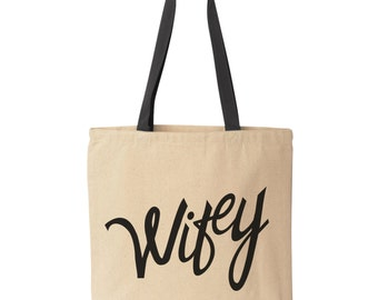Wifey Tote Bag | Bridal Shower Gift | Bride Tote Bag | Future Mrs. Tote Bag | Wedding Tote Bag | Bridal Shower Tote Bag | Wife Tote Bag