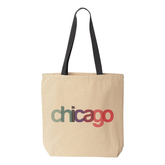 Chicago Tote Bag, Chicago Bachelorette Bags, Chicago Wedding Welcome ...