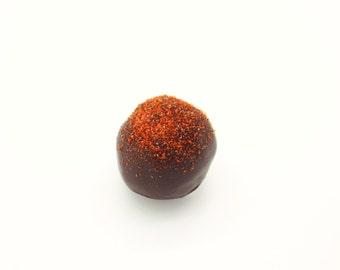 Handmade Belgian Double Dark Chocolate Orange Cake Ball Truffle Bite Wedding Day Favor Favour Gluten Free Birthday Christmas Festive Gift