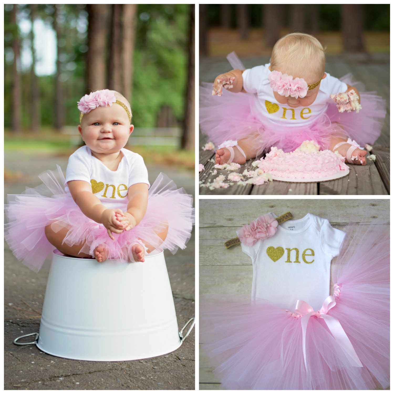 Pink And Gold Tutu...First Birthday Girl...Birthday