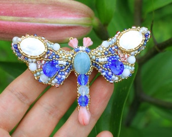 brooch Sapphire Dragonfly