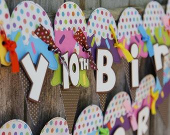 Ice Cream Birthday Banner, Ice Cream Cones, Ice Cream Decorations