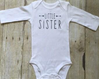 Little sister shirt, little sister infant bodysuit , little sis bodysuit