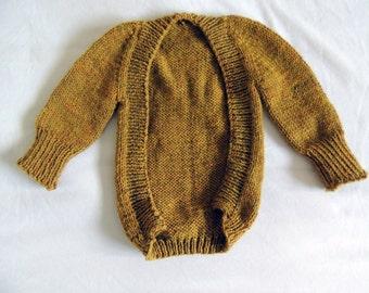 Knit Baby Sweater, baby cardigan, baby sweatshirt, organic baby clothes, yellow baby sweater, wool baby sweater