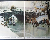 Ice Skating under bridge Turn of the Century Robert Frost quote 1962 magazine clipping