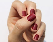 Solid Wine Nail Wraps
