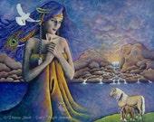 Art Print Mother Earth Bl...