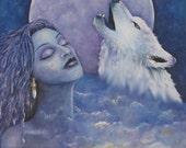 Wolf Spirit Song Fine Art...