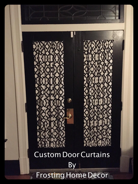 black designer french door curtains curtain patio door. Black Bedroom Furniture Sets. Home Design Ideas
