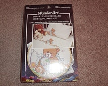 WonderArt Sheet and Pillowcase Kit with bears and bunnies