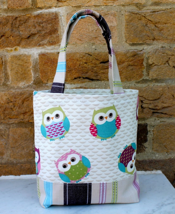 Fabric bag lunch bag girls tote bag small tote wash bag