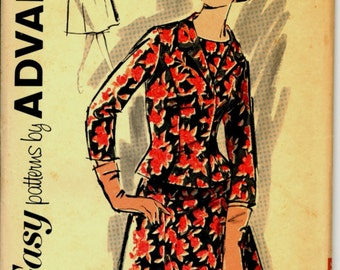 Uncut 1960s Size 18 Bust 38 Dress Jacket Advance 2795 Vintage Sewing Pattern New