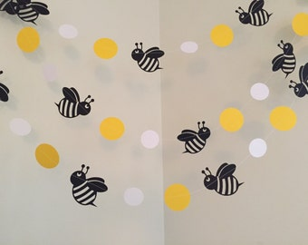 Mommy To Bee Bumble Bee Baby Shower Decorations Bumble Bee Birthday Party  Decoration Bee Paper Garland
