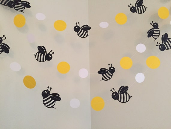 Mommy To Bee Bumble Baby Shower Decorations Birthday Party Decoration Paper Garland Nursery Room
