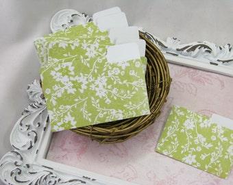 Mini File Folders, Floral, Embellishments, Handmade, Scrapbook, Cards, Miniature, Office, Journals, Spring, Supplies, Smash Books - Set of 9