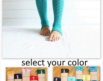 Legwarmers in TURQUOISE with buttons, leg warmers, diamond pattern, button, yoga, winter fashion, shoes accesories, boot cuffs,  unique