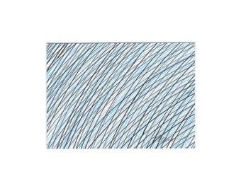 Original Art ACEO Artist Trading Card ATC Mini Original Art, ACEO Collectible Card Abstract Original Black Blue Line Drawing 3.5 x 2.5