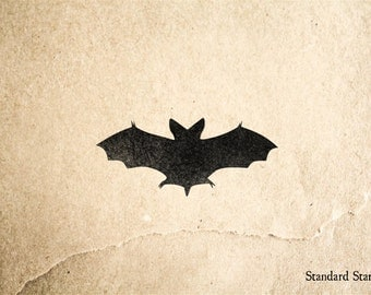 Halloween Bat Rubber Stamp - 2 x 2 inches