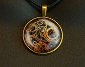 Doctor Who - Gallifreyan charm - necklace, key ring zipper pull