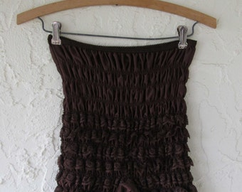 Chocolate Brown Lace Ruffle Square Dance Pants Bloomers