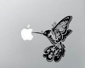 Bird butterfly flower mac book  laptop car window decal STICKER