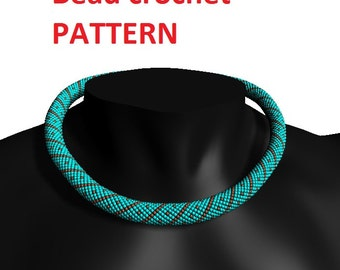 Pattern for necklace bead tutorial beaded pattern jewelry pattern diy necklace instruction bangle pattern accessory pattern crochet tutorial