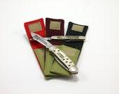 "Olive ""Whittler"" Pocket for 3 to 3.75  in. Folding Knife"