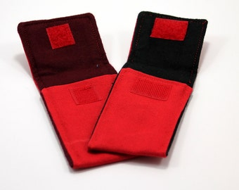"""Red """"Hobo"""" Pocket for 4 to 4 1/2 Thick or Wide Folding Knife"""
