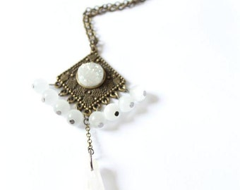 "Necklace ""THE DREAMER"" White Talisman"