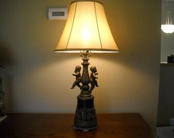 Vintage Cherub Lamp / Light