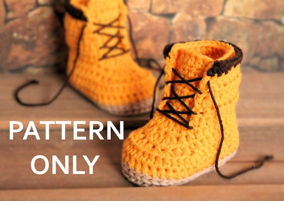 Crochet PATTERN boots for baby boys fall booties by ...