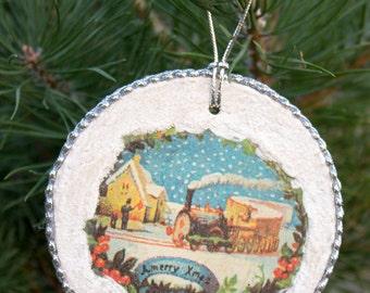 Christmas Ornament vintage Christmas decoration round Retro Christmas ornaments wooden Christmas ornament Christmas decorations
