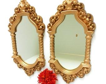 "16.5""H, Wall Mirrors, Oval Mirrors, Decorative Wall Mirrors, Pair of Oval Wall Mirrors, Gold Frame Mirrors, Decorative Mirrors, Item GLSM500"