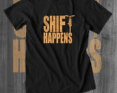 Shift Happens Mountain Bike T shirt Fat Bike  T-Shirts Cycling T shirts Cycling Clothing Cycling Apparel Funny gifts for Men Christmas gifts