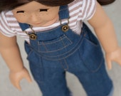 American Girl Doll Clothes - 18 inch Doll - Denim Overalls
