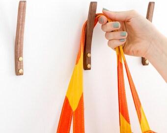 Walnut Coat Hook - Simple, Minimal, Modern
