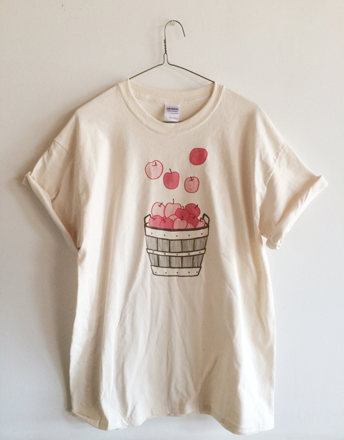 apple shirt food shirt screen printed t shirt fruit print