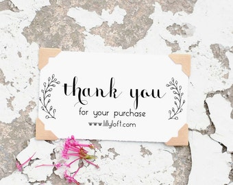 Thank You Stamp, Thank You Business Stamp, Business stamp, Etsy Business Stamp, Custom Business  Card Stamp, Custom Stamp, 10208