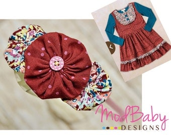 M2M Matilda Jane Headband, teresa lap dress, Fall headband, children's headband, pink blue