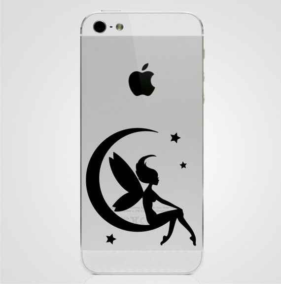 half moon icon on iphone moon iphone 5 decal iphone 5 sticker phone decal 17011