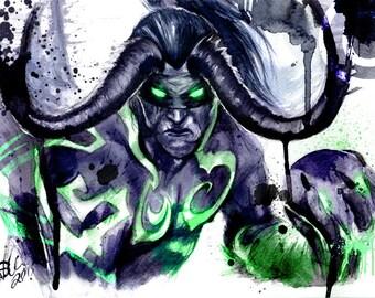 Illidan (World of Warcraft) - Wall Art