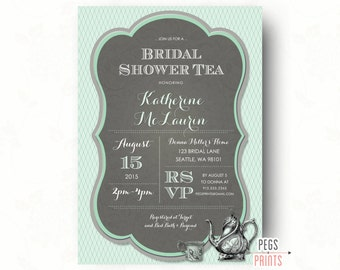 bridal shower tea | etsy, Einladung