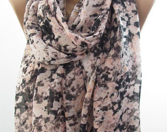 Soft Pink Scarf Shawl Chiffon Scarf Wrap Infinity Scarf Loop Scarf Spring Summer Fall Winter Fashion Women Fashion Accessories Christmas