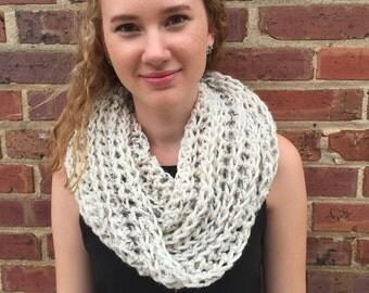 Chunky Ribbed Infinity Scarf | Rachel | Oatmeal