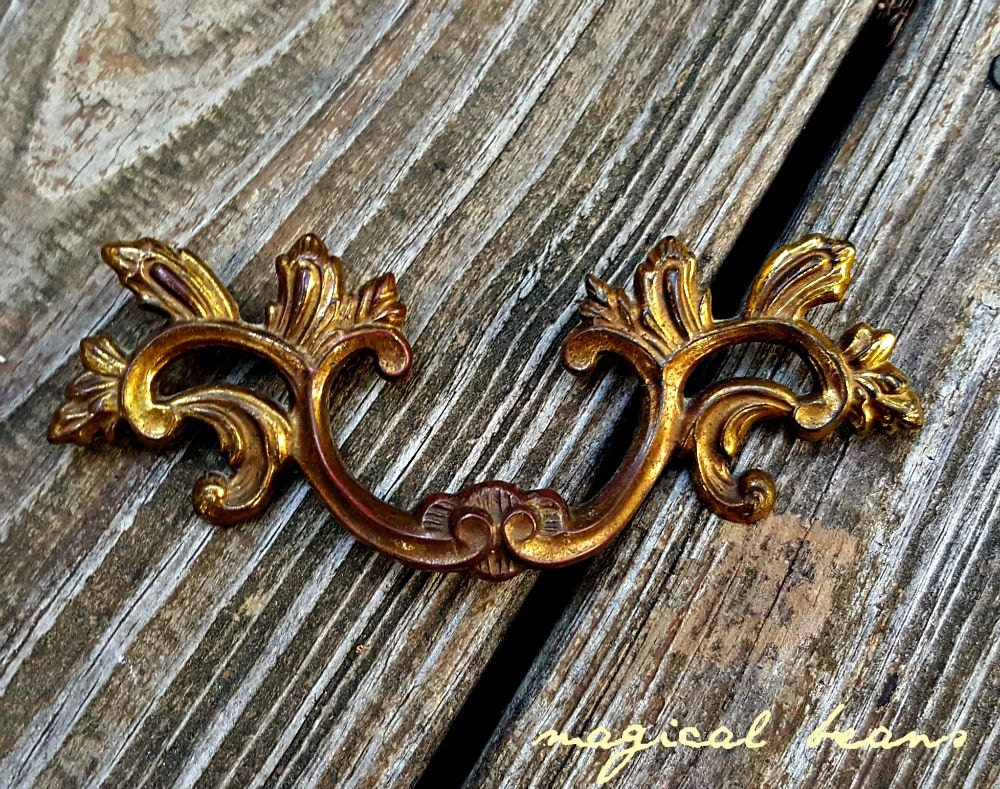 French Provincial Dresser Pulls Shabby Chic Drawer Pulls