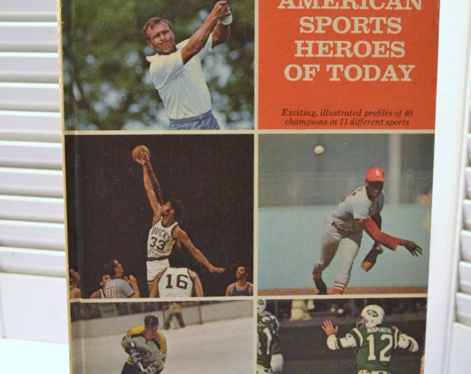 American Sports Heroes of Today by Fred Katz 1970 Vintage Book  PanchosPorch